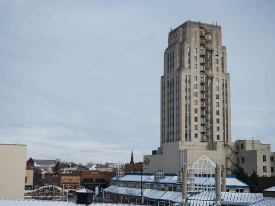 Work began this week on Heritage Tower in downtown Battle Creek. The project is expected to be completed by fall 2018 or early 2019.
