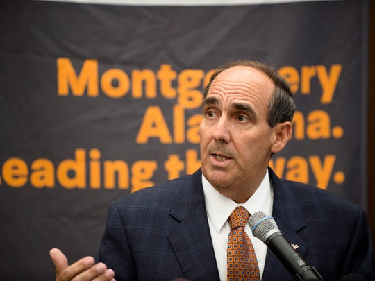 Carl Stockton, AUM chancellor, speaks during a press conference on the Montgomery Internet Exchange on Wednesday, June 7, 2017, in Montgomery, Ala.