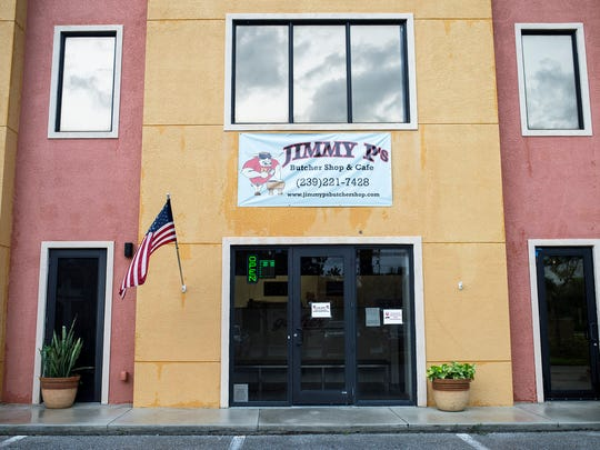 The outside of Jimmy P's Butcher Shop and Deli is pictured in Bonita Springs on Tuesday, July 12.