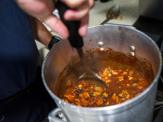 Naples firefighter Craig Weinbaum's chili is seen at Greater Naples Fire Rescue District's Station 21 in Naples, Fla., on Wednesday, August 9, 2017. Weinbaum is headed to New York City after making the top three in the Hormel Chili America's Best Firehouse Chili Contest on Aug. 23.
