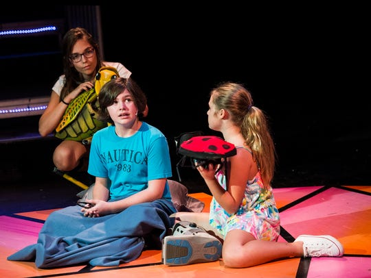 Naples Kidz-Act rehearse scenes from James and the