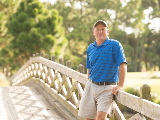 Indian River Club golf course superintendent Robert Wallace at the club in Vero Beach.