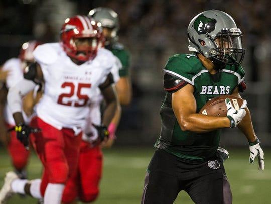 Palmetto Ridge High School's Cristian Torres takes