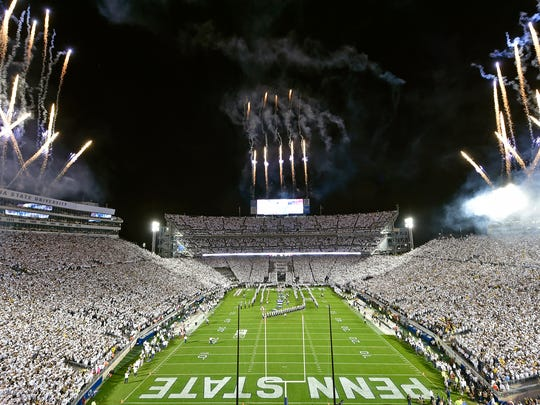 Penn State's Beaver Stadium is one of the largest in the nation.