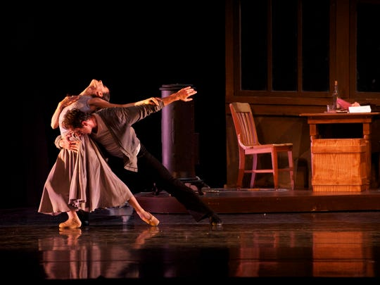 """Luz San Miguel and Davit Hovhannisyan reprise their roles as Mimi and Rodolfo in Milwaukee Ballet's revival of """"La Bohème."""""""