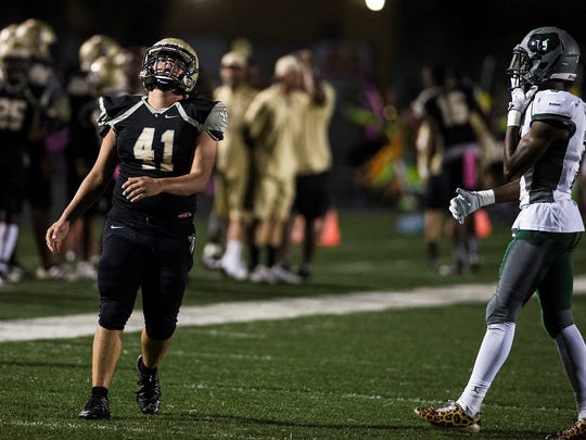 Palmetto Ridge held off Golden Gate to win the Battle for the Gate, 23-21, on Friday, Oct. 27, 2017.