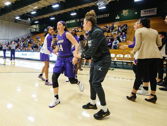 Vermont native Hailee Barron, a guard for James Madison,