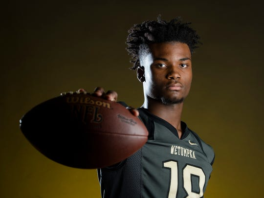 Wetumpka quarterback Jadarious Martin poses for a portrait on Friday, Dec. 22, 2107, in Montgomery, Ala.