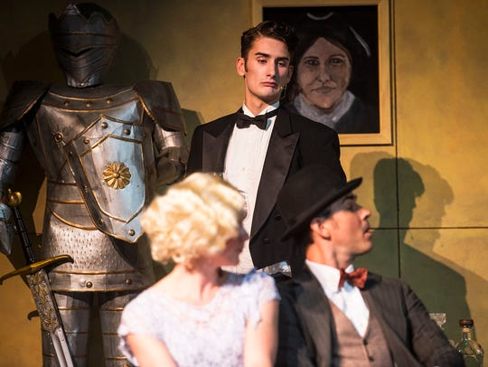 A scene is acted out during a dress rehearsal of the