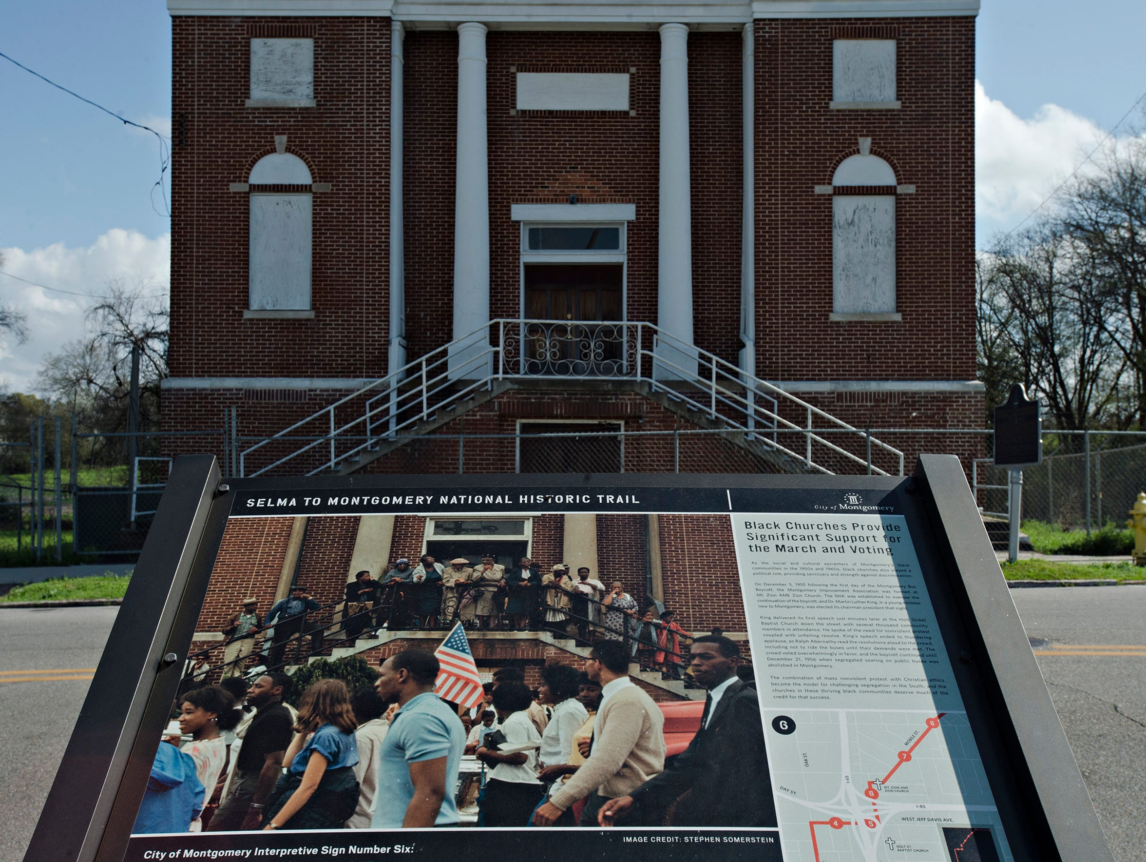 The old building of Mount Zion African Methodist Church