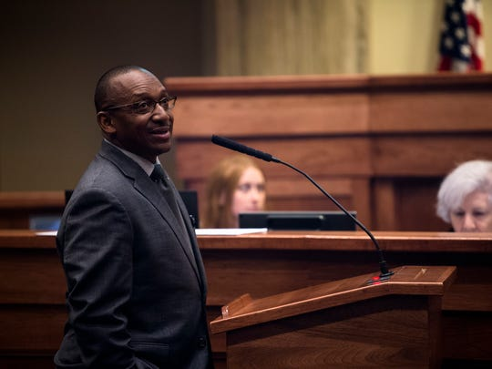 Sen. Bobby Singleton, D-Greensboro, addresses the Senate
