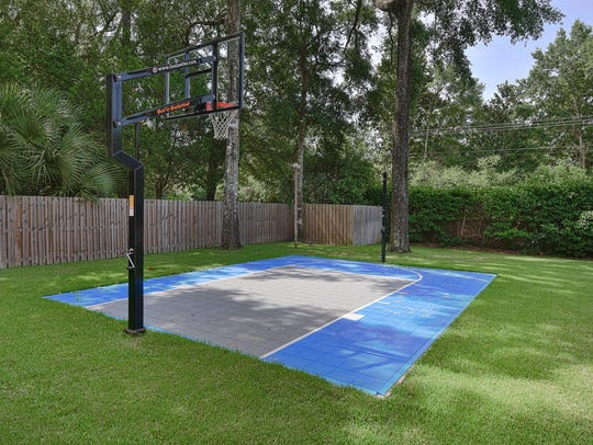 2611 Dunsinane Rd., the home basketball court.