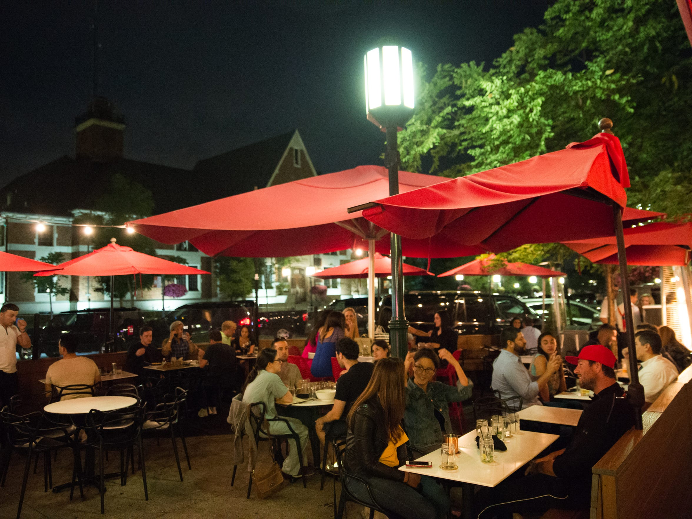 The Townhouse's patio in Birmingham, Mich. on Friday,