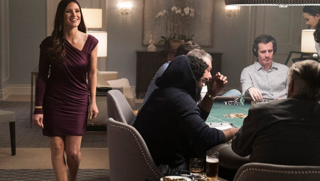 "This image released by STXfilms shows Jessica Chastain in a scene from ""Molly's Game."""