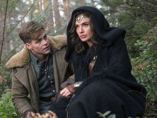 "Chris Pine and Gal Gadot appear in Patty Jenkins' ""Wonder Woman,"" opening June 2."