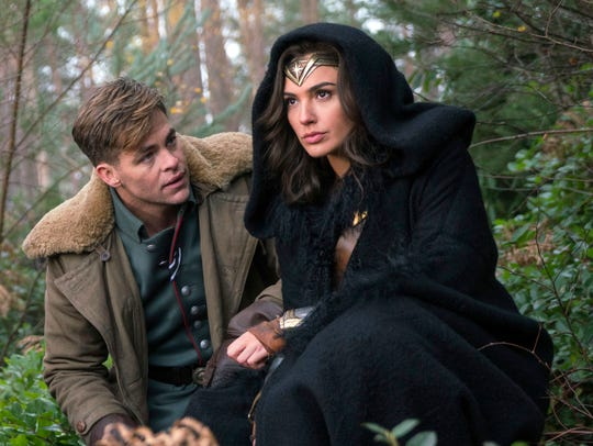 "Chris Pine and Gal Gadot appear in a scene from ""Wonder"