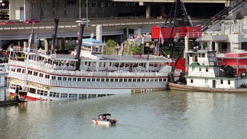 The Belle of Louisville was sunk on Aug. 24, 1997.