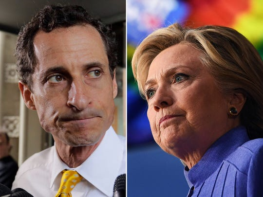 Anthony Weiner and Hillary Clinton.