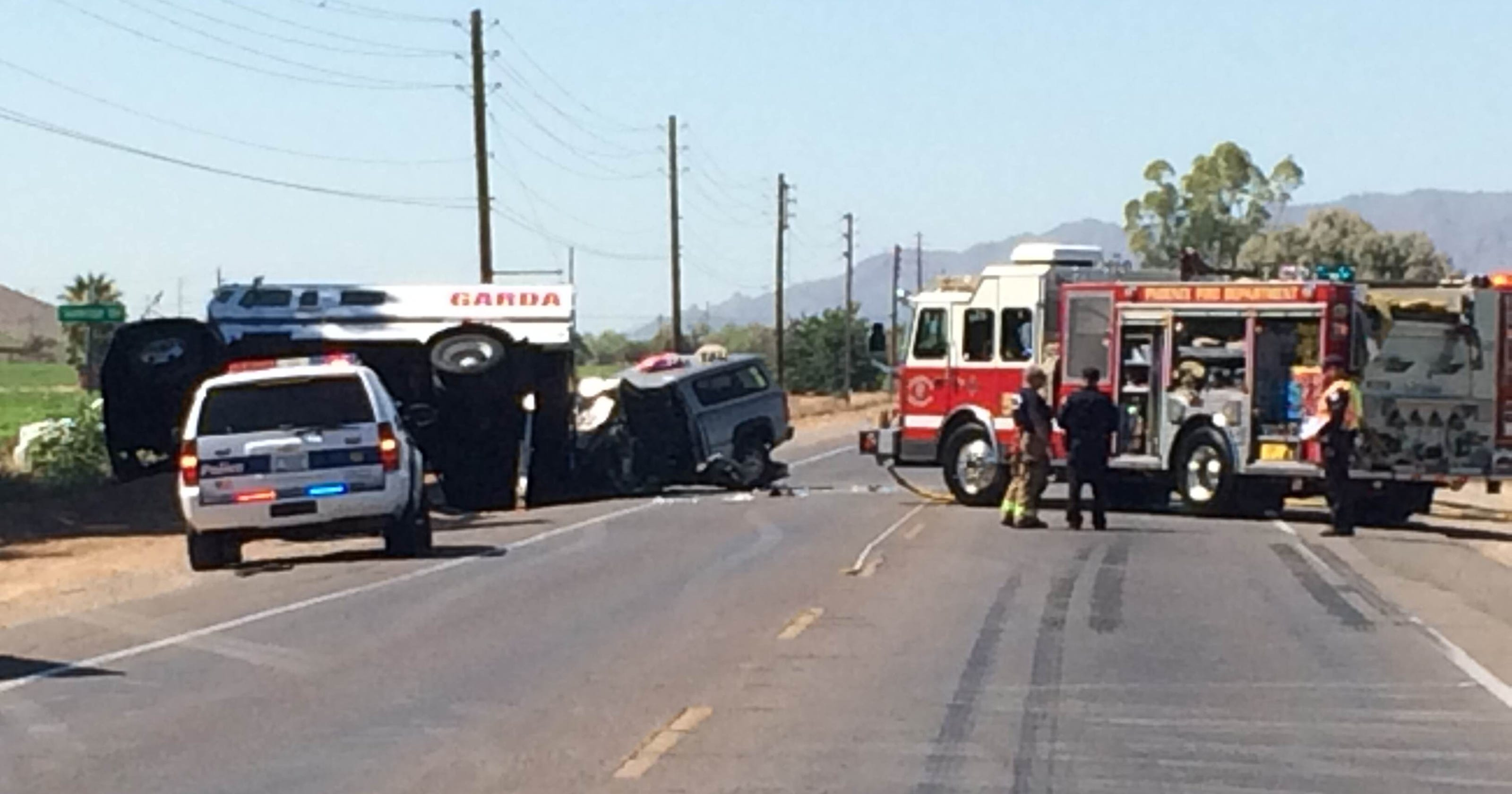 Phoenix Police Armored Truck Driver Cellphone Before Crash