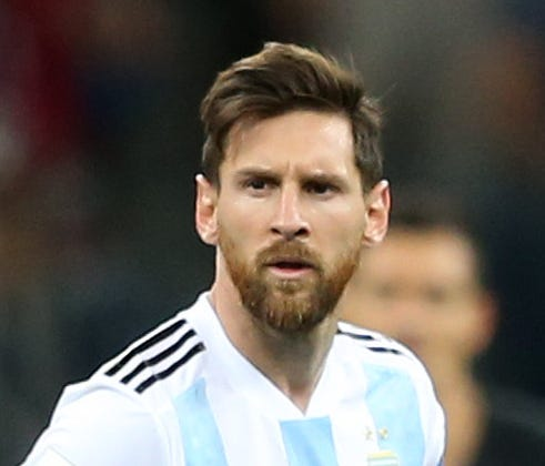 Lionel Messi looks dejected during Argentina's World Cup match against Croatia.