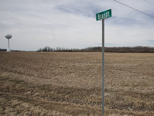 The area Northwest of the intersection of Brandt and