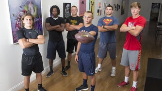 The Asbury Park Press High School Football Preview cover was shot at Parlor Gallery in Asbury Park. See more photos from the shoot on Sept. 8.
