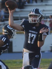 Quarterback James McNamara of Camarillo High makes