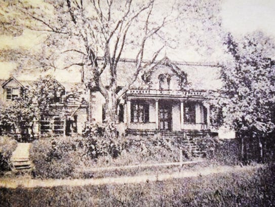 An undated photo of the Kip house.