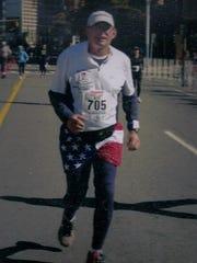 Garry Watson in 2009 Detroit marathon.
