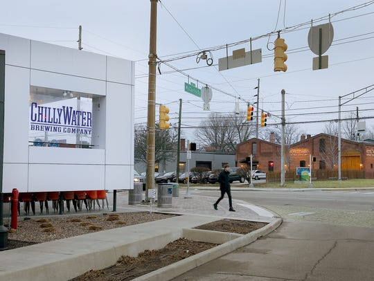 Chilly Water Brewing Company,left, is open to the early