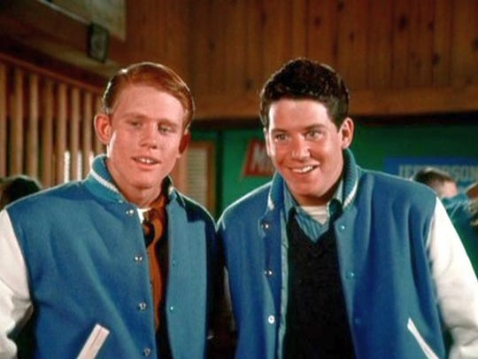 Ron Howard and Anson Williams in the first Happy Days