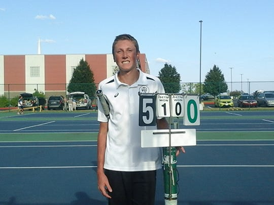 Covenant Christian tennis player Chris Bailey