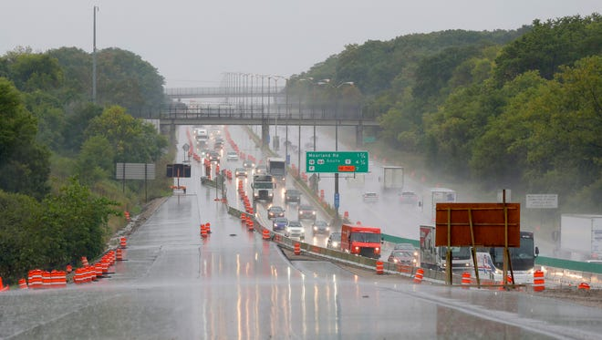 State Sen. Alberta Darling (R-River Hills), co-chairman of the Joint Finance Committee, said the ongoing delays in approving a budget could imperil the I-94 east-west project in Milwaukee County. Here, work is shown on the Zoo Interchange in September.