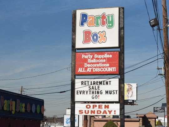 The retirement sale sign went up this week at The Party Box. The store is expected to close in March.
