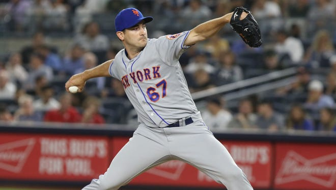 Seth Lugo came in to pitch in relief of Noah Syndergaard for the Mets in the sixth inning against the Yankees at Yankee Stadium on Friday, June 20, 2018.