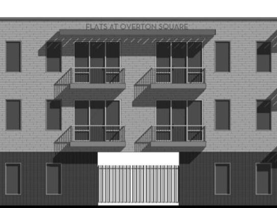 Flats at Overton Square will offer four live/work units