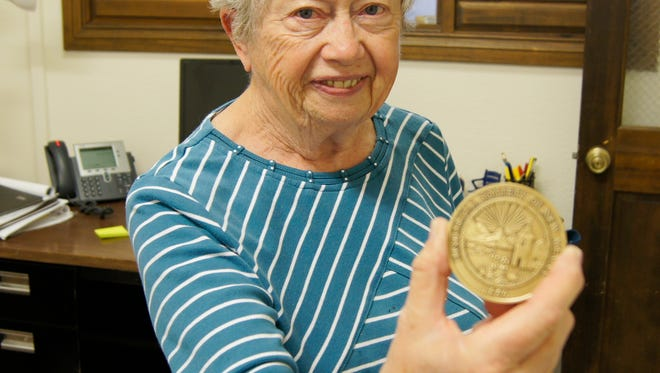 Cecilia Bell, president of the Fort Bayard Historic Preservation Society, was honored by the Historical Society of New Mexico on Saturday in Farmington.