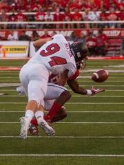 Southern Utah linebacker Taylor Nelson (94) tackles