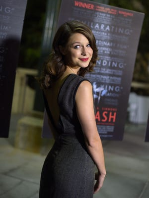 Actress Melissa Benoist attends the October premiere of 'Whiplash' in Los Angeles.