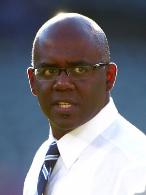 Detroit Lions general manager Martin Mayhew watches a game against the Oakland Raiders.