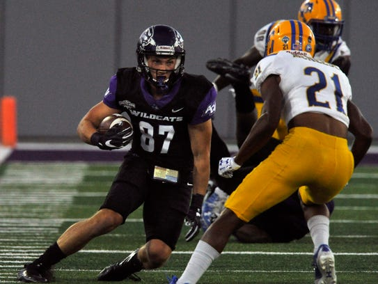 Wildcat wide receiver Josh Fink faces off for Abilene