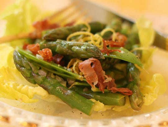 Sample the taste of spring vegetables by combining