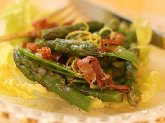 Sample the taste of spring vegetables by combining them into the Super Simple Spring Celebration Salad.