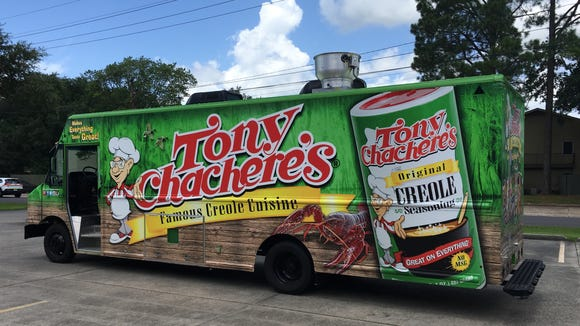 The Tony Chachere's Creole Cruiser food truck will
