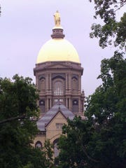 The famous dome on the University of Notre Dame campus.