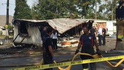 Authorities responded to a mobile home explosion in