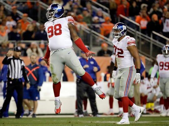 New York Giants defensive tackle Damon Harrison (98)
