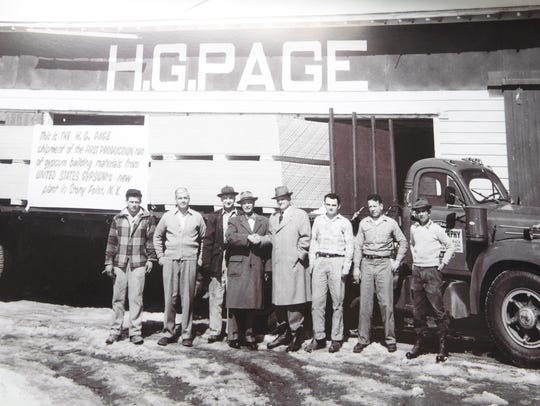 A photo circa 1962 depicting the opening of Page Home