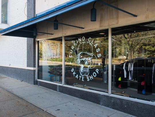 An exterior view of Lurking Class Skate Shop on West