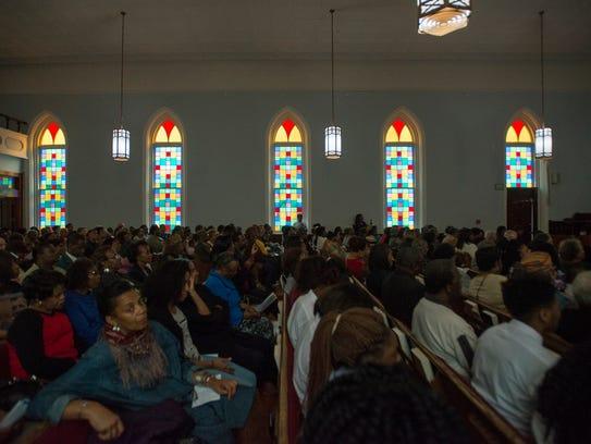People fill Dexter Avenue King Memorial Baptist Church